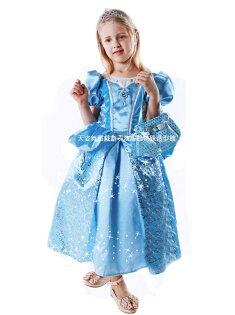 天姿舞蹈戲劇表演服飾特殊造型館:天姿訂製款兒童演出服批發灰姑娘公主裙Cinderella禮服連身表演服裝批發團購CC00088