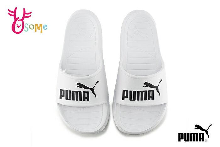 PUMA DIVECAT V2 拖鞋 成人男女款 大童 全防水 鞋面大LOGO 情侶鞋 運動拖鞋 J9536#白色 奧森