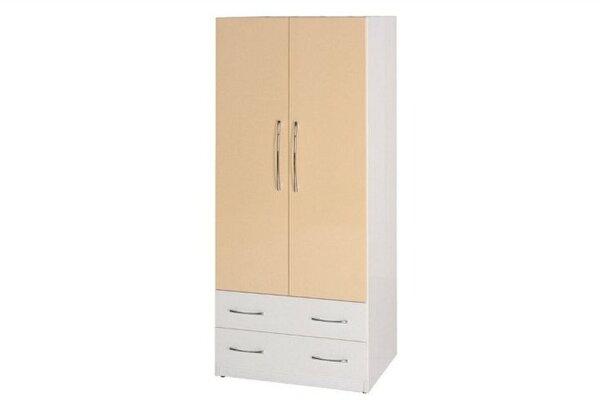 石川家居:【石川家居】820-09(鵝黃白色)衣櫥(CT-110)#訂製預購款式#環保塑鋼P無毒防霉易清潔