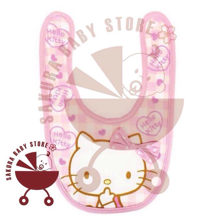 日本 正版Kitty 圍兜 口水巾 吃飯巾 櫻花寶寶