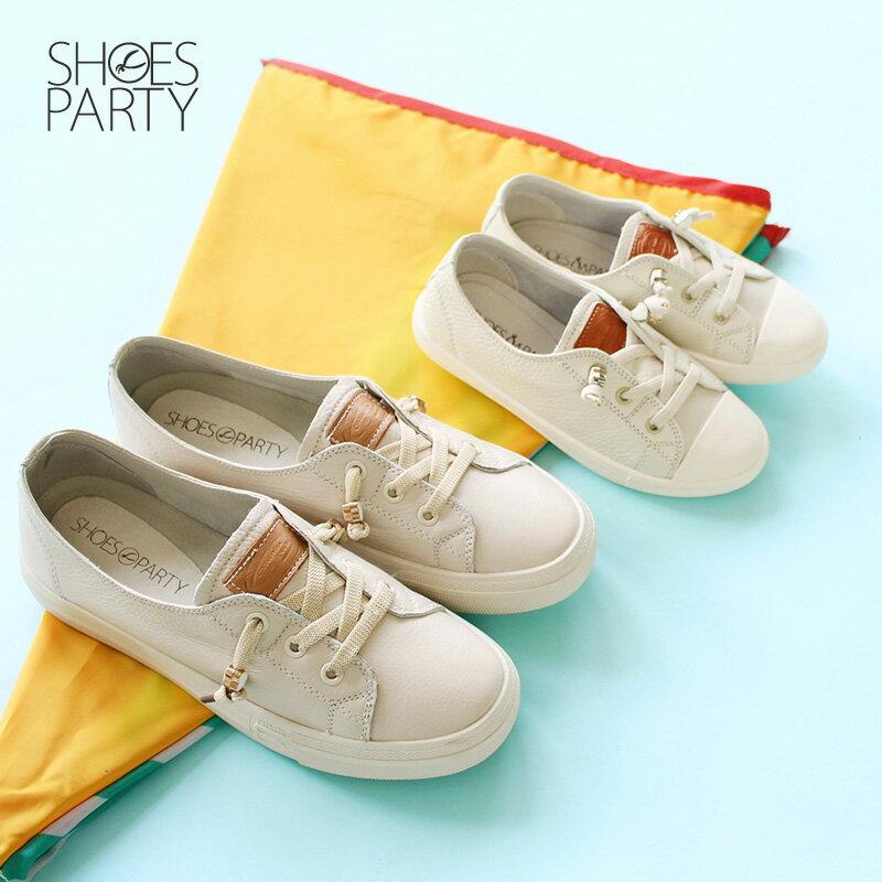 童鞋【FK-18203L】內建鬆緊帶,軟牛皮愛心結休閒鞋_Shoes Party 1