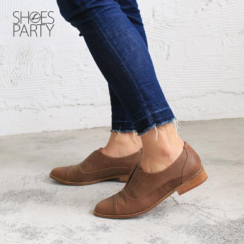 【 C2-17740L 】簡約真皮復古紳士鞋_Shoes Party 1