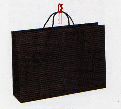 紙袋2K~20入~黑~無印~棉把手 pbag~007