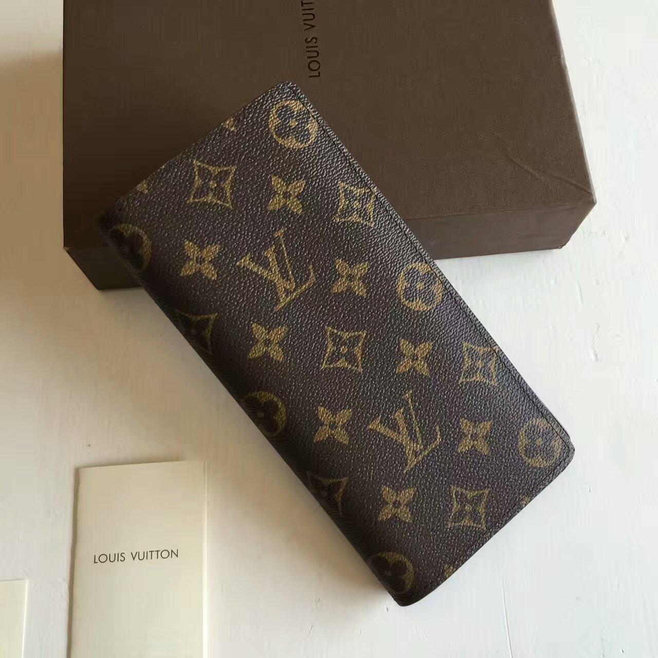 KUMO SHOES-現貨全新 Louis Vuitton 經典LV花紋開闔拉鍊長夾M66540