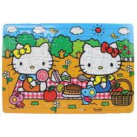 凱蒂貓週邊商品推薦到Hello Kitty凱蒂貓拼圖 80片拼圖 快樂野餐/一個入{促100} 世一C678022 KT幼兒卡通拼圖 MIT製正版授權