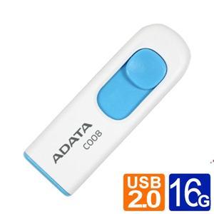 威剛 ADATA C008 16GB 行動碟 藍白/黑紅兩款