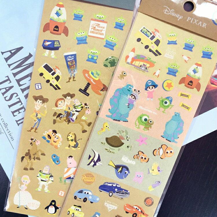 PGS7 日本迪士尼系列貼紙 - 迪士尼 皮克斯 牛皮 造型貼紙 玩具總動員 海底總動員【SHJ6194】