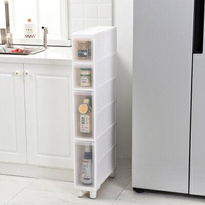 儲物縫隙櫃 14CM夾縫收納櫃窄塑膠抽屜式廚房冰箱邊櫃衛生間縫隙儲物收納箱 『MY5448』