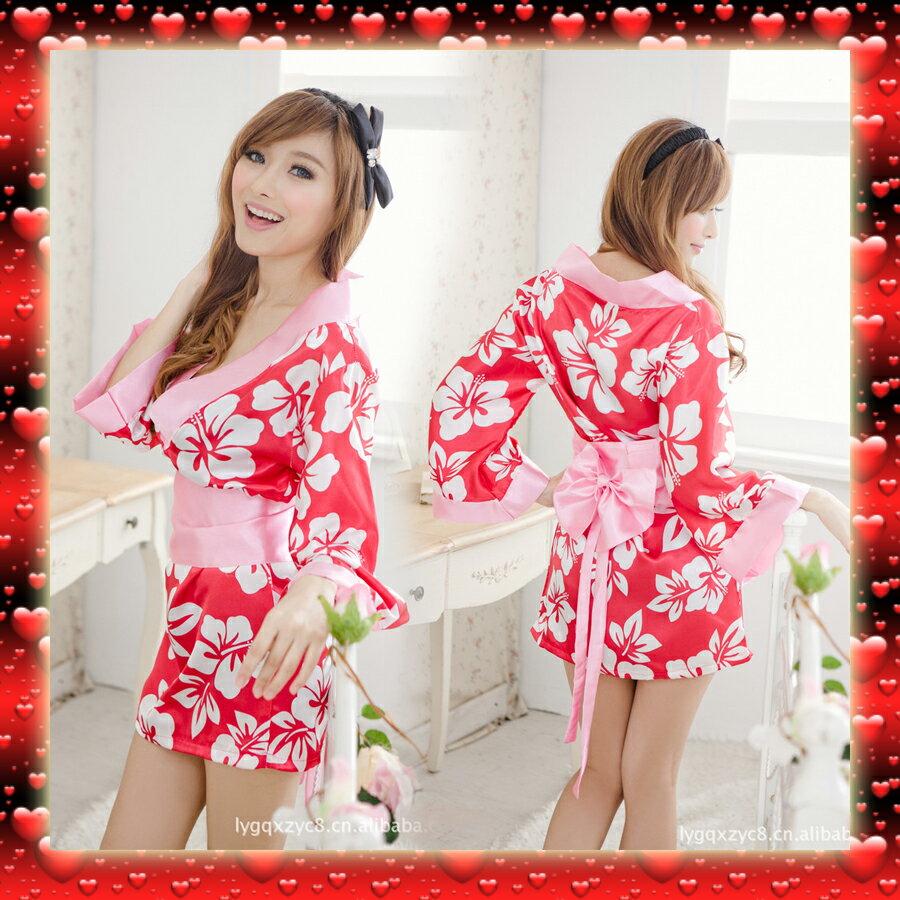 QX8044 現貨商品 直銷性感 日式櫻花和服 可愛浪漫 印花遊戲 制服誘惑 情趣內衣 情人節 送禮 攝影 外拍模特兒 旅拍