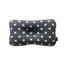 韓國【Borny】3D透氣純棉塑型嬰兒枕(6個月以上適用) (灰底白點)