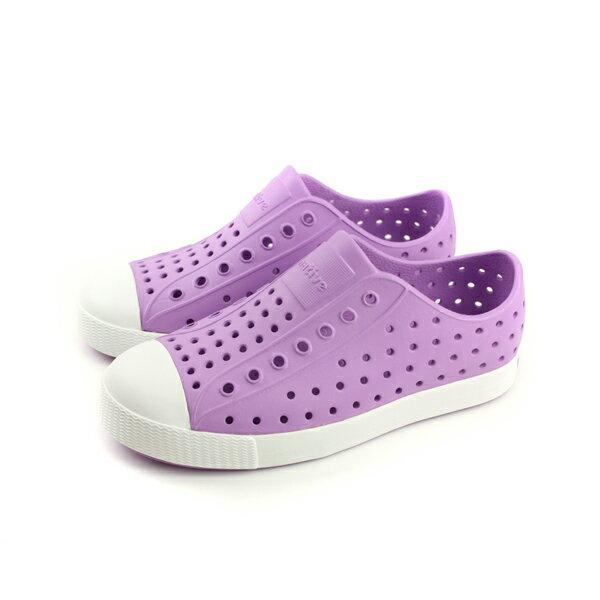 nativeJEFFERSON懶人鞋洞洞鞋紫色中童童鞋12100100-5323no759