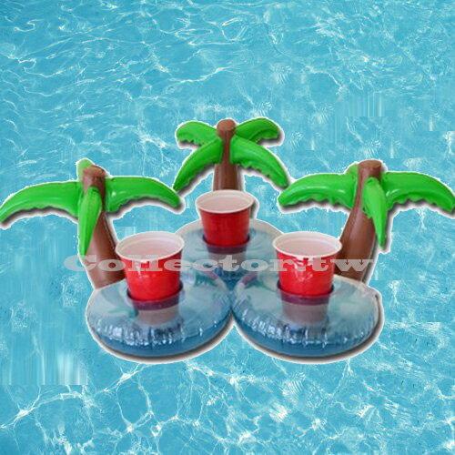 【C16071805】充氣式棕欖樹飲料套 游泳池可樂套 棕欖樹充氣杯座 夏日必備