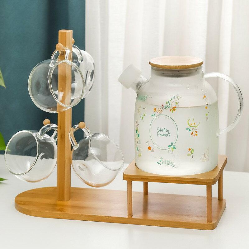 日式耐高溫玻璃冷水壺套裝大容量家用防爆泡茶壺涼白開水杯涼水壺