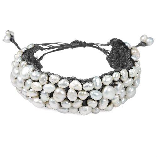Handmade Genuine Stone Hemp Stone Bracelet 0