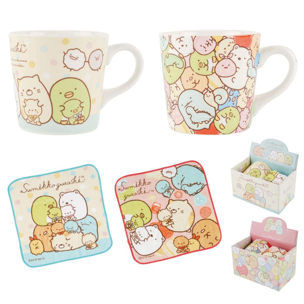 日本角落生物陶瓷馬克杯附小方巾角落小夥伴馬克杯方巾禮盒咖啡杯茶杯水杯手帕