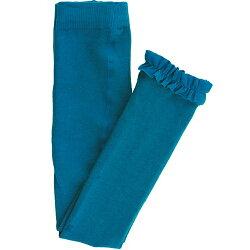 【hella 媽咪寶貝】美國 RuffleButts 小公主甜美荷葉邊內搭褲(襪)_藍色(RBRT023)