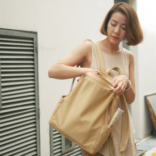 WHITEOAK 超實用多夾層配色backpack帆布包(6色) 6