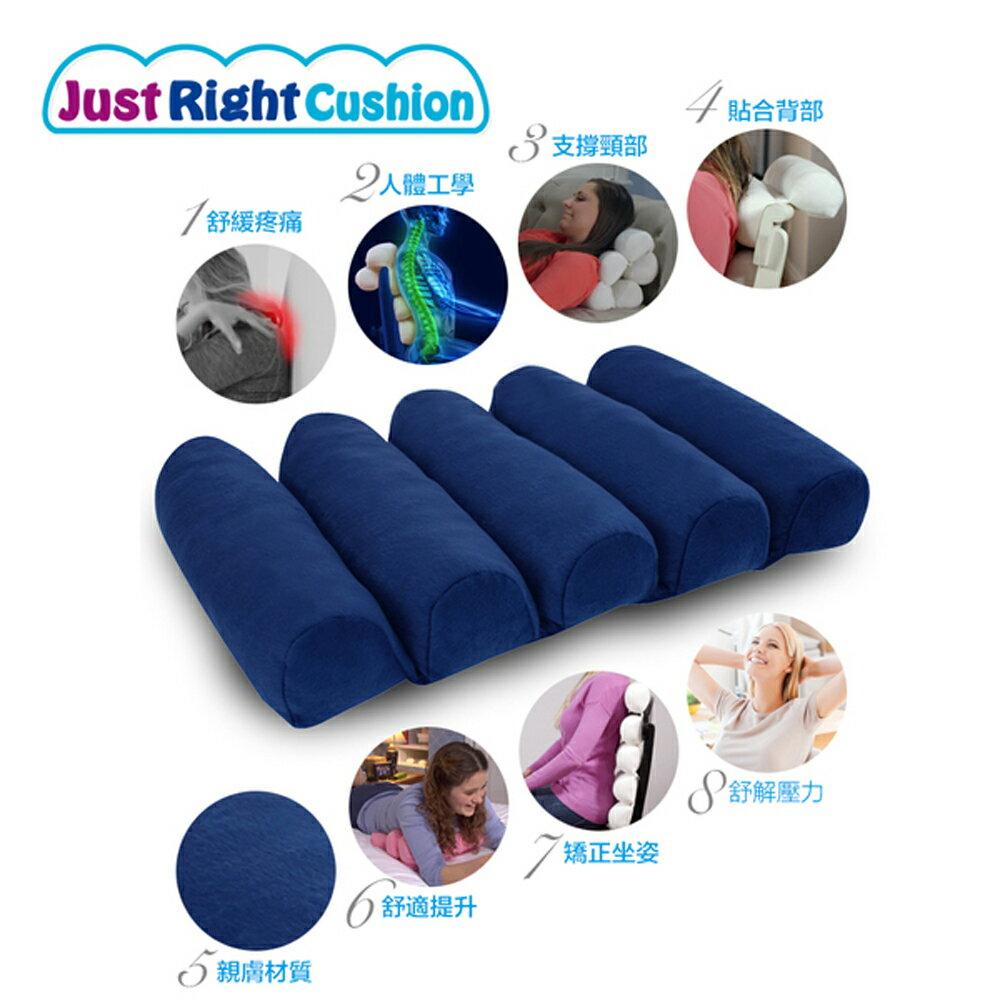 【新品到貨】美國Just Right Cushion 久坐神器 / 姿勢矯正 / 減壓撐腰 / 靠背靠墊 / 舒適抬腿枕 (藍色款1入) 3