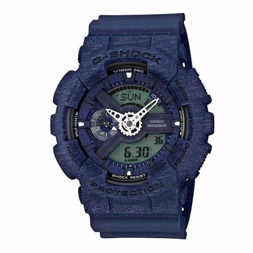 CASIO/G-SHOCK/人氣針織紋路運動腕錶/GA-110HT-2ADR