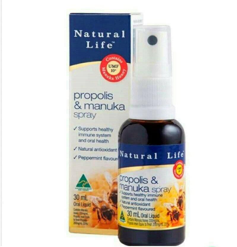 澳洲代購 Natural Life 活性 麥蘆卡 蜂膠 噴劑 30ML 澳洲原裝進口