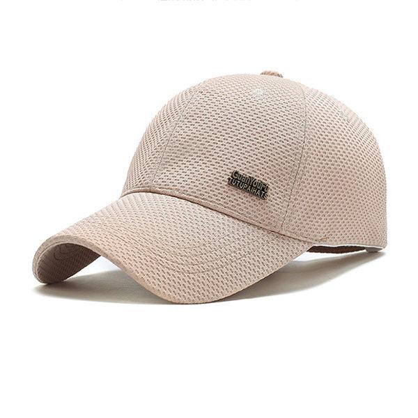 PS Mall 春夏網布棒球帽男 中年戶外遮陽帽子【G1006】 4