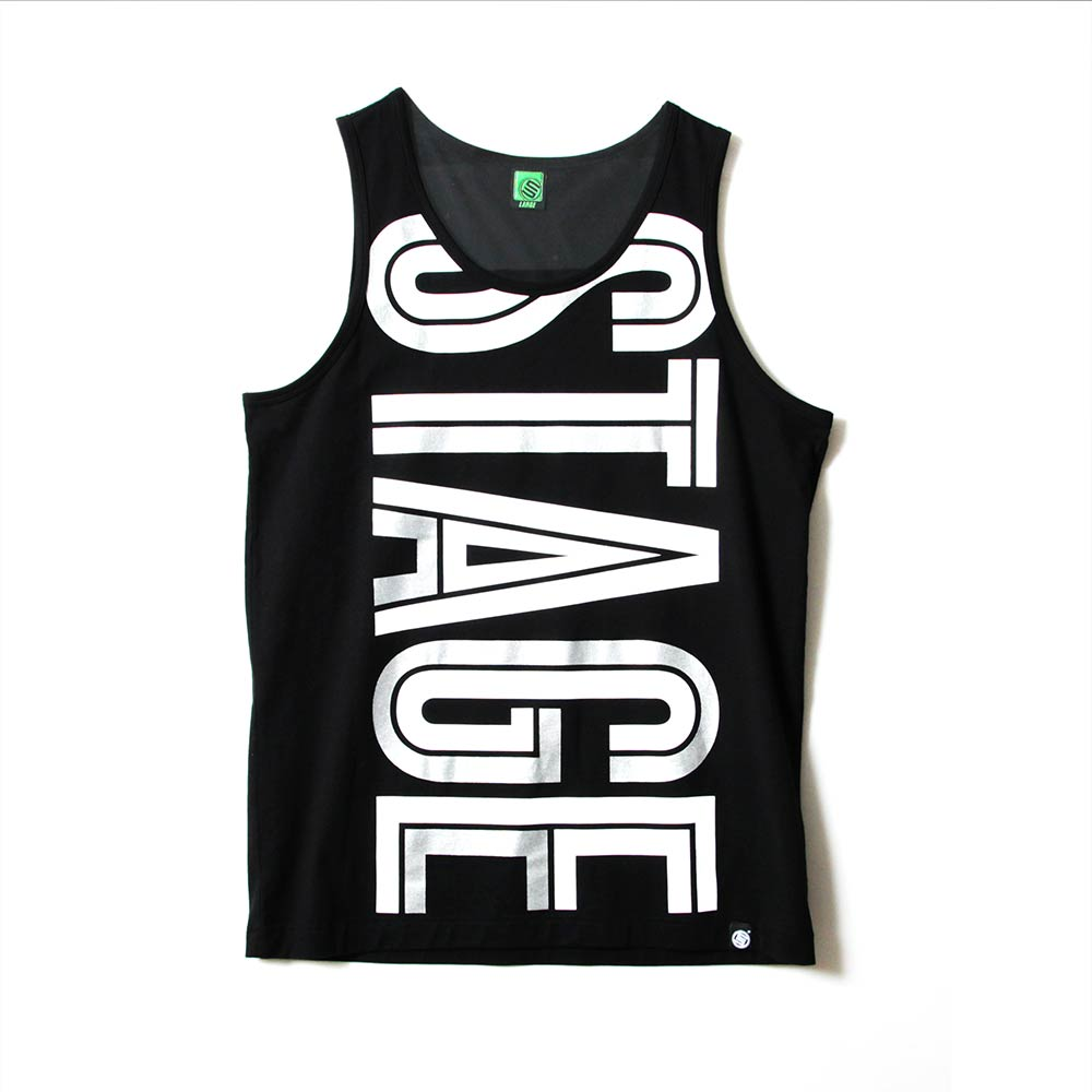 STAGE HOLLOW FONT TANK TOP 黑色/白色 兩色 4