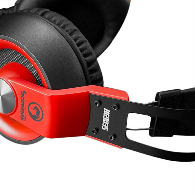 【MARVO】 HG9035 電競耳罩式耳機 紅 電競耳機 電競耳麥 遊戲耳機 耳機麥克風 電腦耳機【迪特軍】