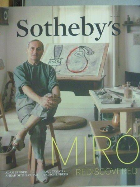 【書寶二手書T6/收藏_YKK】Sothebys_2014/5_Miro Rediscovered..