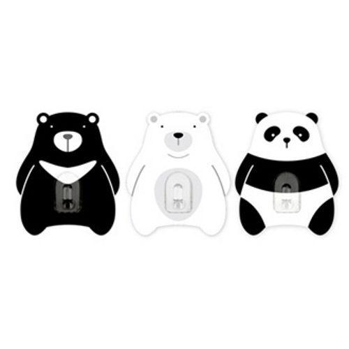 2EASY造型單掛鉤組 3入/組-黑白熊