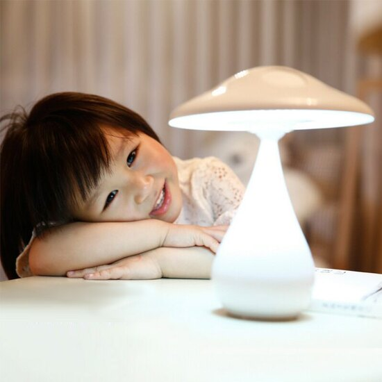 ?MY COLOR? 蘑菇空氣淨化檯燈 充電式 臥室 床頭 負離子 閱讀 禮物 照明 充電 LED【P50】