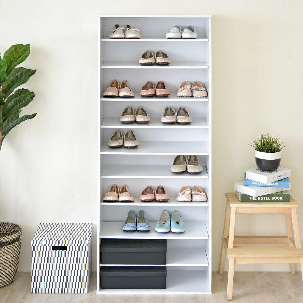 《HOPMA》十層開放式鞋櫃 /收納櫃 C-1821