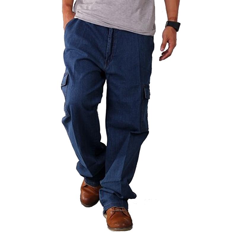 【滿額領券折$150 】加大尺碼 多袋工作牛仔長褲 42腰~50腰【CS衣舖 】0854