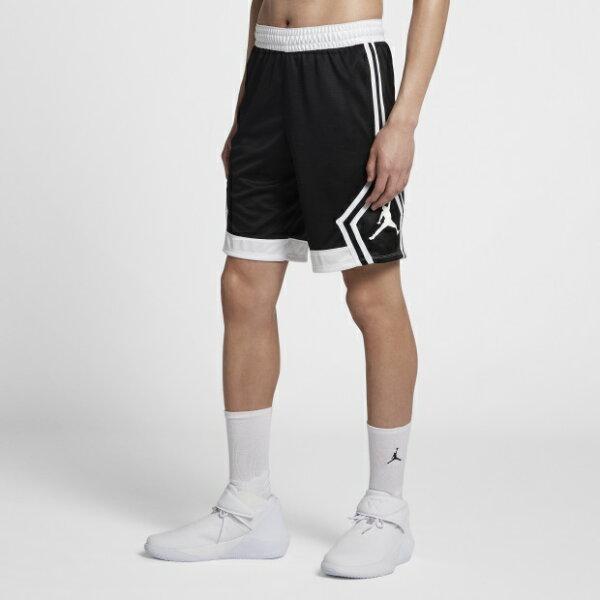 NIKEJORDANRISEDIAMOND男裝短褲籃球快乾舒適黑白【運動世界】887439-013