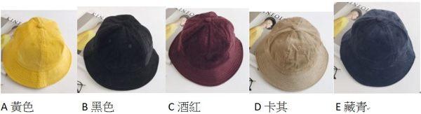 PS Mall 秋冬新款燈芯絨漁夫帽女韓版盆帽【G1004】 1