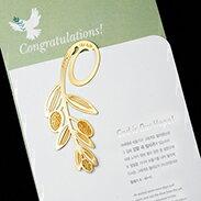 橄欖葉 書籤 18K金 簍空 金屬 雕花 水果 黃金 夾子 籤 葉子 禮品 書