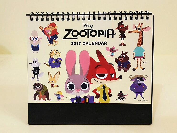~more 小舖~迪士尼動物方程市 2017年Calendar 三角檯月曆 民國106年三