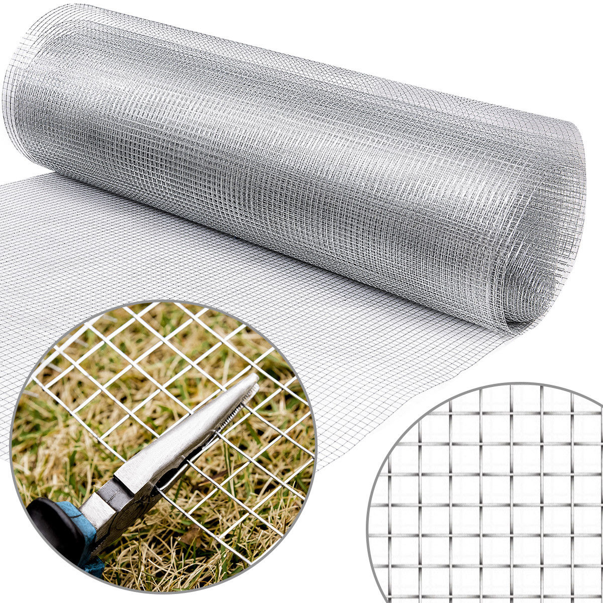 Costway: Costway 36\'\' x 50\' 1/2inch Wire Fence Mesh Cage Roll Garden ...