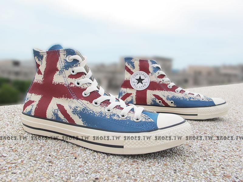 《限量5折》Shoestw【149497C】CONVERSE 帆布鞋 經典 英國國旗 高筒 大國旗 白藍紅 男女都有