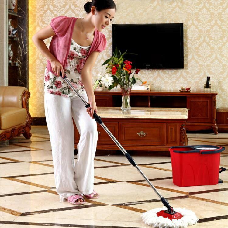 拖把桶 拖地桶拖把桶拖布桶墩布桶拖布托把旋轉式拖把家用免手洗干濕兩用【優品生活館】