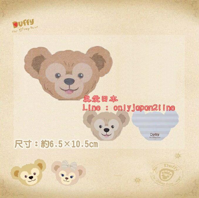【真愛日本】16070800030樂園毛絨大臉造型便條紙本-達菲Duffy 達菲熊&ShellieMay 日本帶回 預購