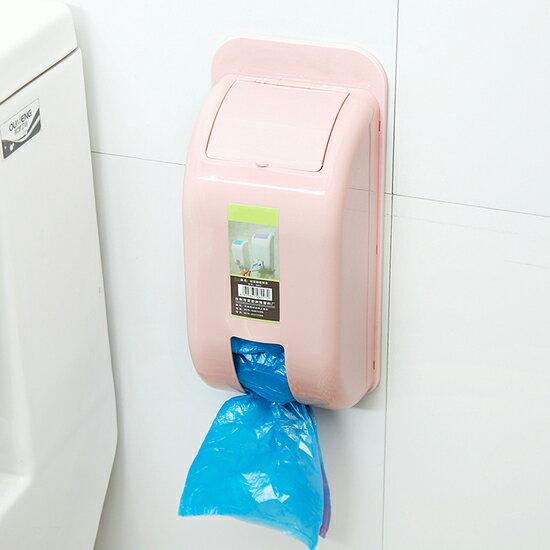 ♚MY COLOR♚壁掛垃圾袋抽取盒 廚房 雜物 整理 回收 重複 櫥櫃 掛壁 購物 垃圾桶 節約【S51】