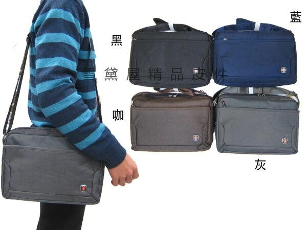 ~雪黛屋~MAKOTO斜側包中容量二層主袋可8寸平板進口防水尼龍布材質隨身物品中性款外出休閒B360SA12751
