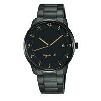 agnès b.到agnes b VJ42-KZ30G(BS9003J1) 法式時尚經典腕錶/黑面38mm