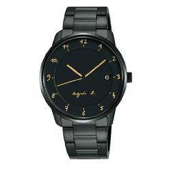 agnes b VJ42-KZ30G(BS9003J1) 法式時尚經典腕錶/黑面38mm