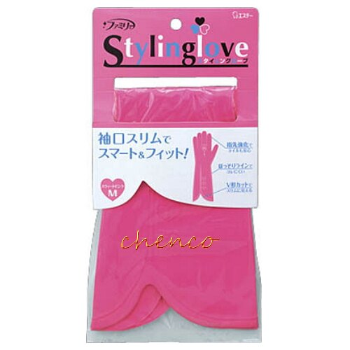 【晨光】日本愛詩庭雞仔牌 時尚粉彩指尖強化手套-粉M-711956