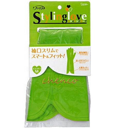 【晨光】日本愛詩庭雞仔牌 時尚粉彩指尖強化手套-綠M-711963