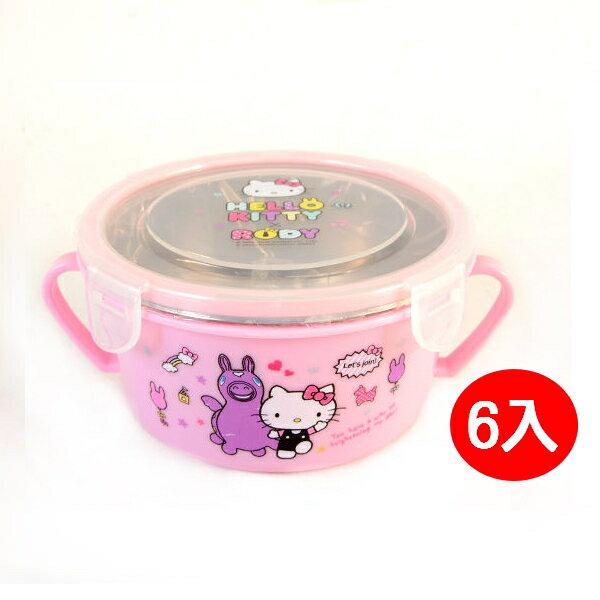 【晨光】KITTY&RODY 304 雙耳不鏽鋼隔熱湯碗附匙6入-893717【現貨】