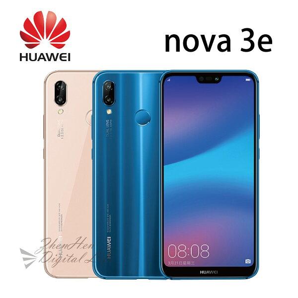 華為HUAWEInova3e5.84吋4G64G-藍粉《贈空壓殼+9H玻保+5200mAh行動電源》