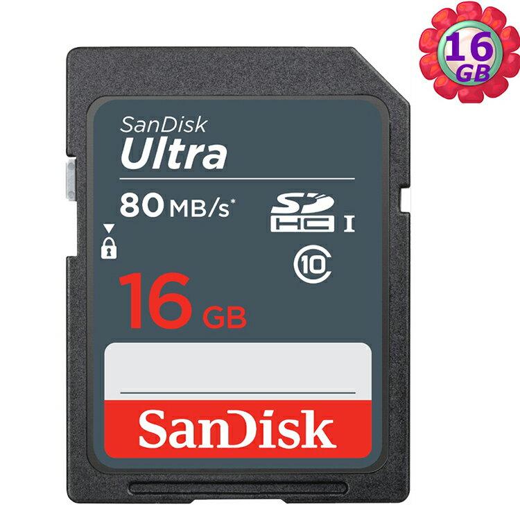 SanDisk 16GB 16G SDHC【80MB/s】Ultra SD UHS-I UHS C10 Class 10 原廠包裝 相機記憶卡