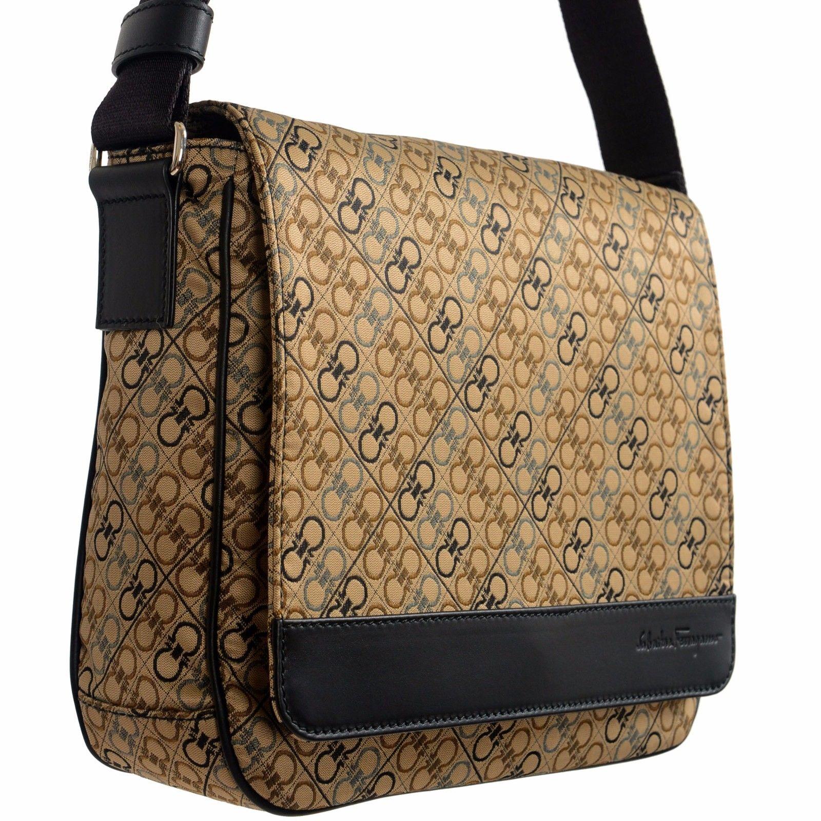 a3b679391e Salvatore Ferragamo Multi-Color Logo Pattern Adjustable Men s Crossbody Bag  5